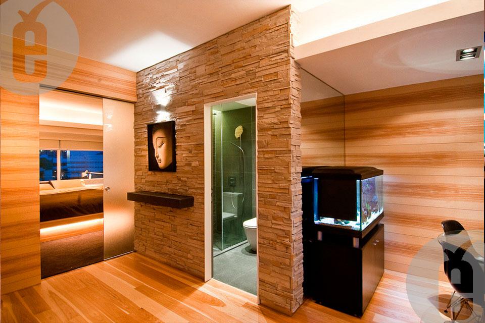 Интерьер со стеновыми панелями