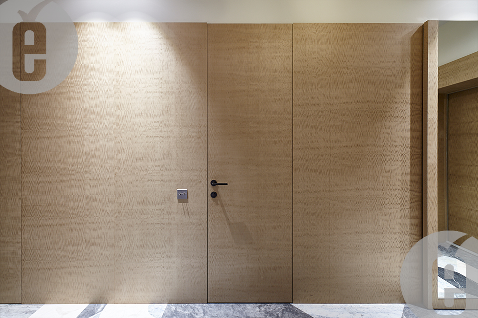 Элитные стеновые панели из натурального шпона Табу