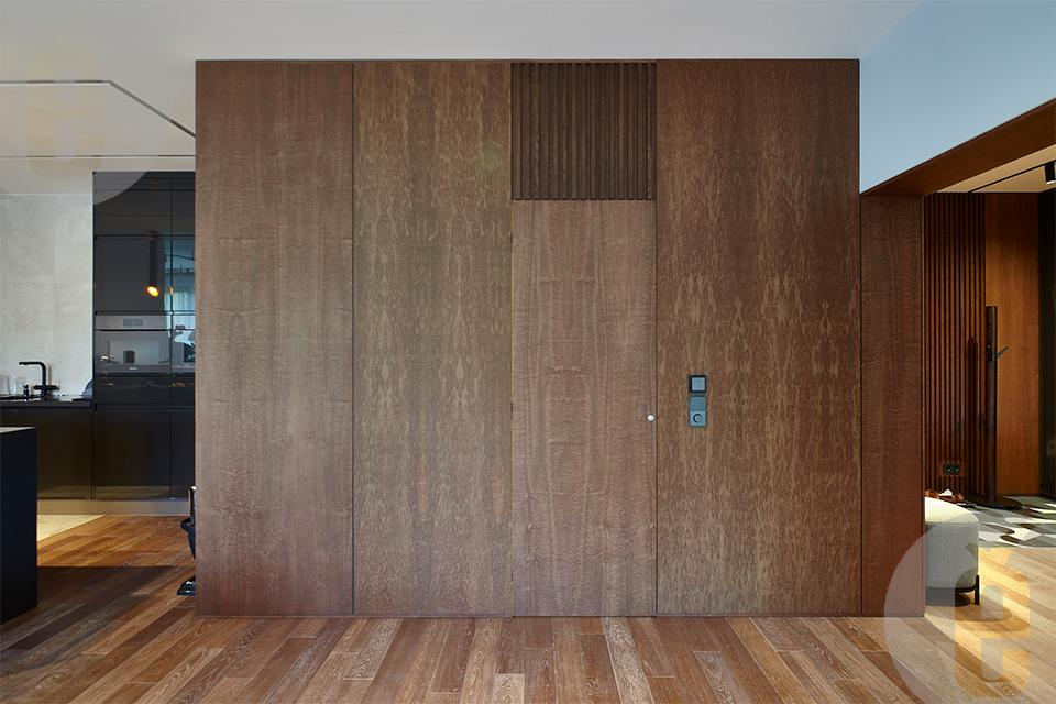 Стеновые панели в шпоне Эвкалипт помеле