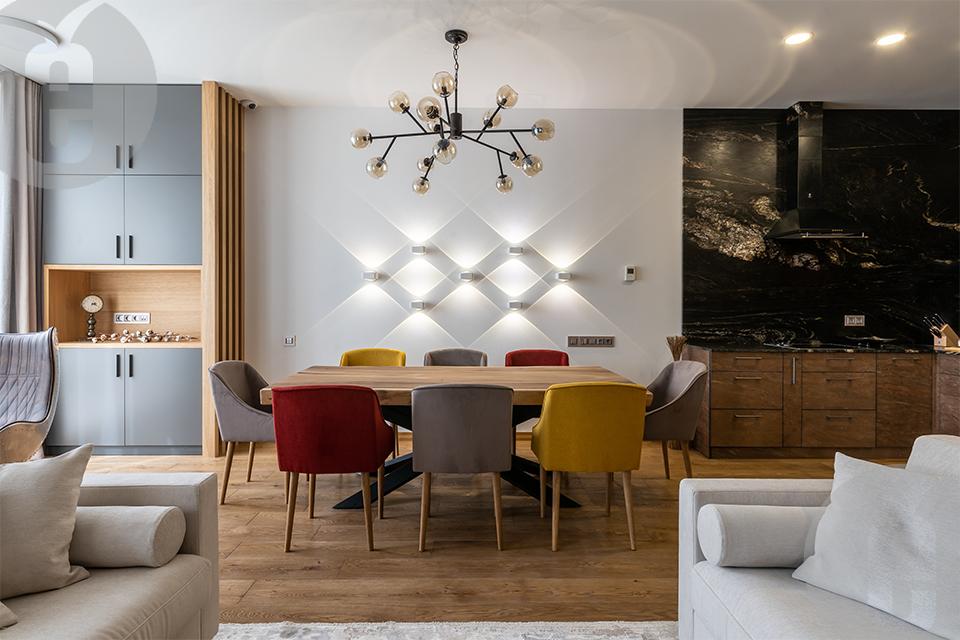 Стеновые панели для гостиной в шпоне Эвкалипт Помеле