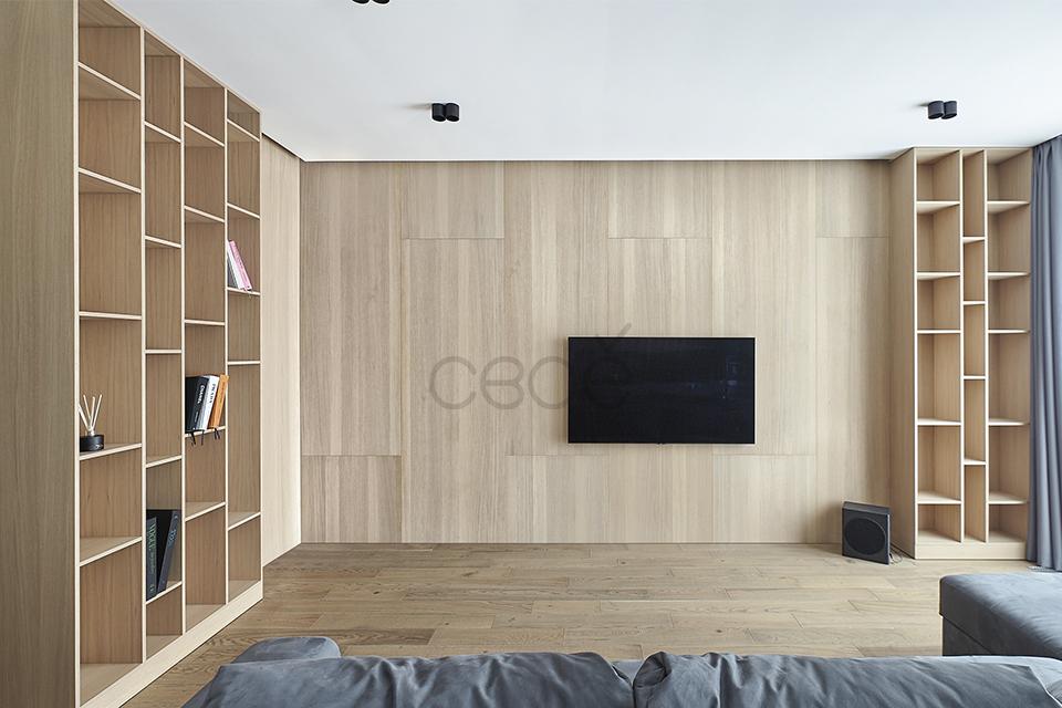 Декоративные панели шпон дуба тонированный для уютной гостиной